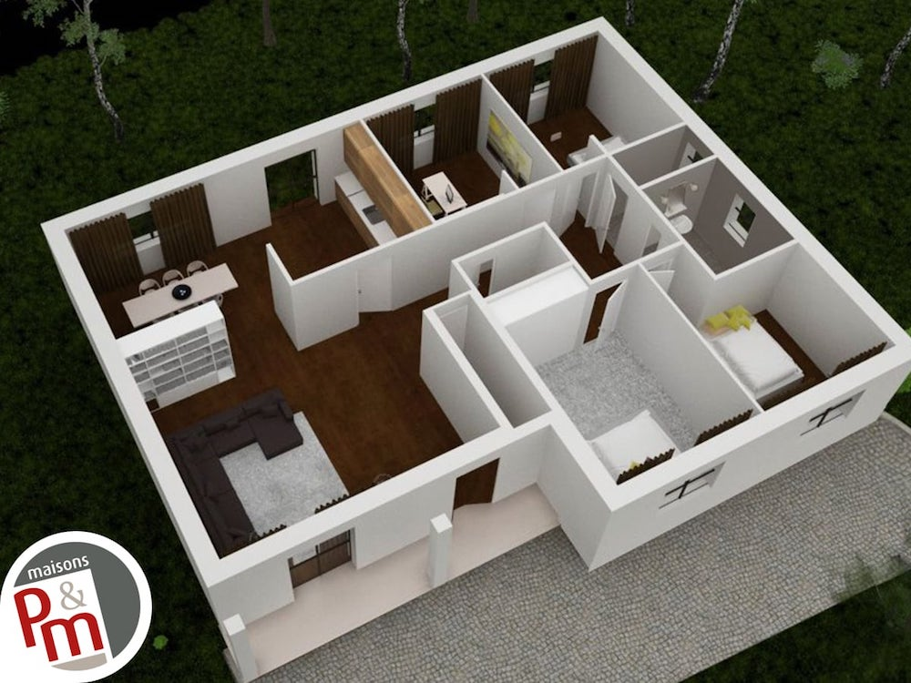 Sommi re plan maison for Maison sur plan prix