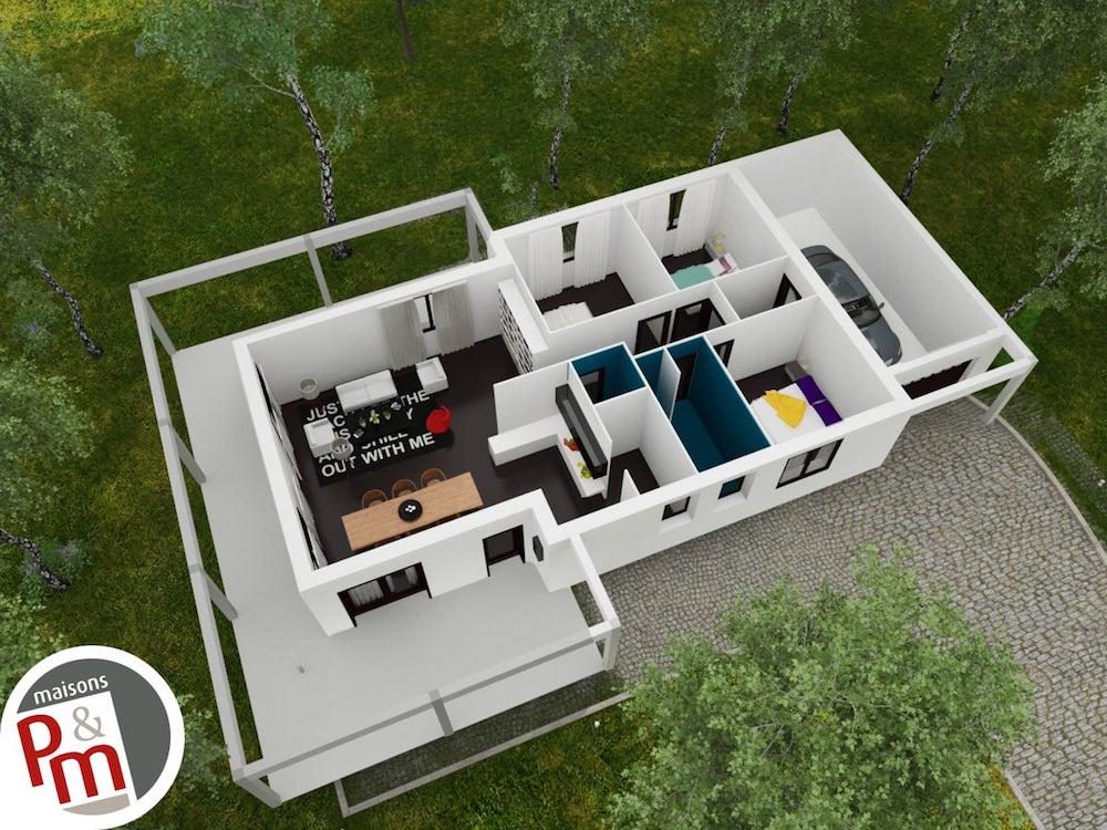 Pergolair maison moderne et fonctionnelle - Plan maison simple 3 chambres ...