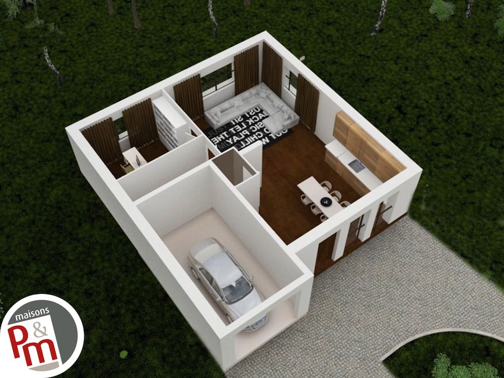 Focus R 1 Plan Maison 3d