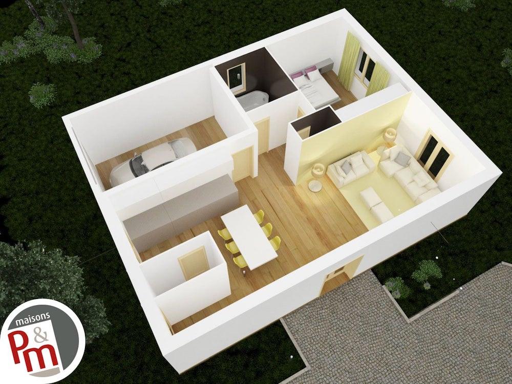Maison Plan 3d. Finest Hd Wallpapers Plan D Maison Style Americain ...