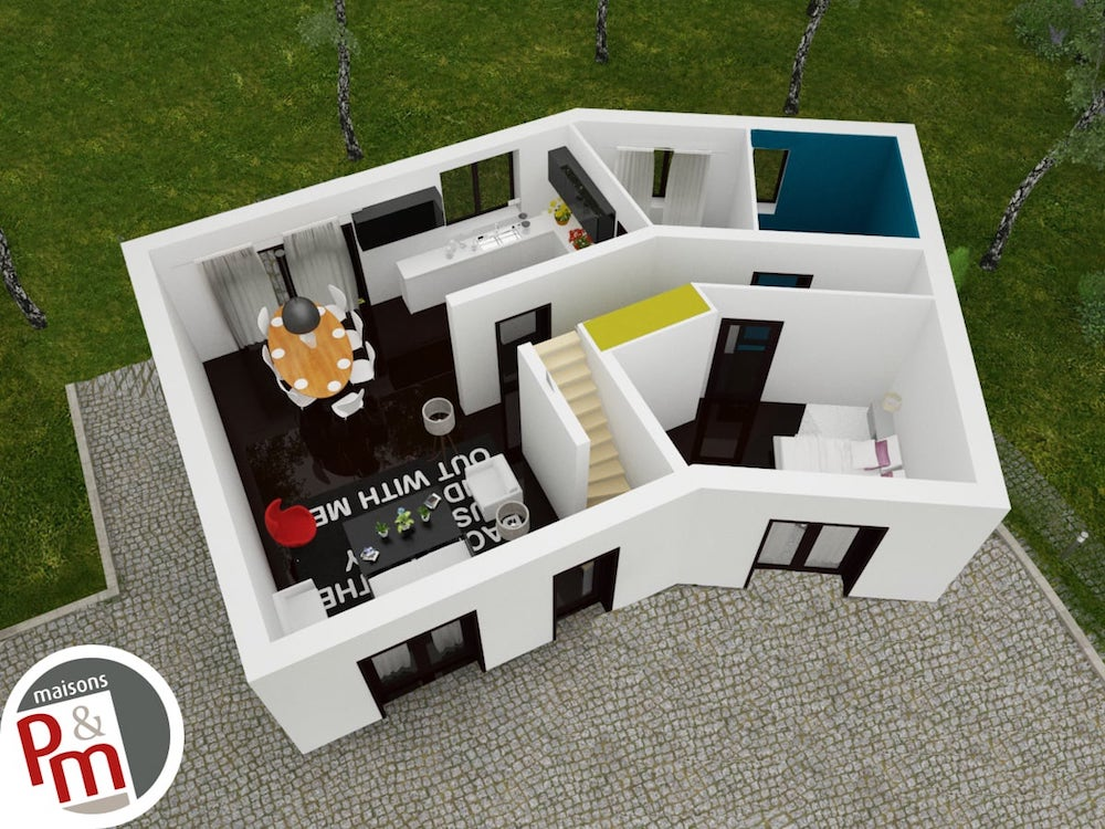 Versi re tage plan maison for Plan de maison etage