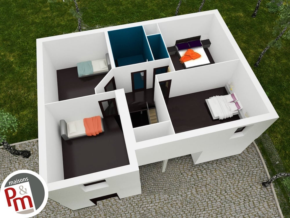 Domaini re tage plan maison for Modele de maison interieur